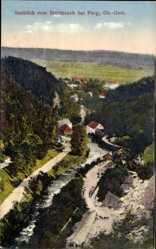 Postcard Perg Oberösterreich, Ausblick vom Steinbruch, Wasserlauf