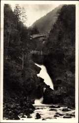 Postcard Vintgar Slowenien, Zelezniski Most, Brücke, Wasserfall