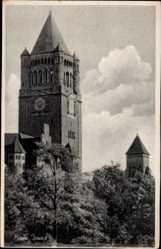Ak Poznań Posen, Ansicht vom Schloss, Turmuhr, Wartheland