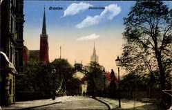 Postcard Wrocław Breslau Schlesien, Blick über die Dombrücke