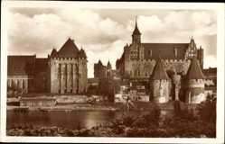 Ak Malbork Marienburg Westpreußen, Haupthaus dt. Ritterorden