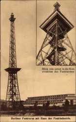 Postcard Berlin Witzleben Charlottenburg, Der Funkturm mit Haus der Funkindustrie