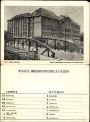 Klapp Ak Hagen in Westfalen Ruhrgebiet, Staatliche Ingenieurschule, Brücke