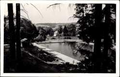 Postcard Erlau St. Kilian in Thüringen, Blick zum Schwimmbad, Rutsche, Freibad