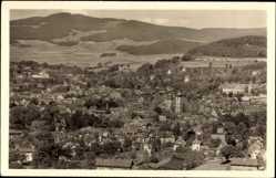 Postcard Schmalkalden im Thüringer Wald, Blick auf den Ort, Fliegeraufnahme