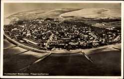 Postcard Norderney in Ostfriesland, Totalansicht der Insel, Fliegeraufnahme