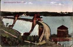 Postcard Möhnesee im Kreis Soest Nordrhein Westfalen, Möhnetalsperre, Sperrmauer