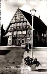 Postcard Lütjenburg in Schleswig Holstein, Ansicht eines alten Fachwerkhauses