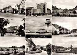Postcard Langenhagen in Niedersachsen, Wohnsiedlung, Flughafen, Funkturm