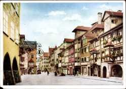 Postcard Lindau im Bodensee Schwaben, Gasthaus in der Maximilianstraße