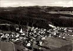 Postcard Friesenhofen Leutkirch im Allgäu, Gesamtansicht des Ortes
