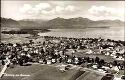 Postcard Chieming im Kreis Traunstein Oberbayern, Panoramablick auf den Ort