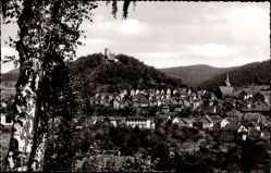 Postcard Biedenkopf an der Lahn, Blick vom Altenberg auf den Ort