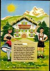 Leporello Ak Mein Bayerland, Berchtesgaden, Watzmann, Königssee