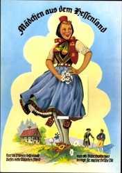 Leporello Ak Mädchen aus dem Hessenland, Bad Salzschlirf, Kurpark, Kurhotel