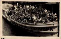 Foto Ak Berlin Wilhelmshagen, Spreedampfer Europa, Müggelsee