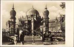 Postcard Mumbai Bombay Indien, The Museum, Straßenpartie, Inder, Kuppeldach