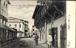Postcard Mombasa Kenia, Vasco da Gama Street, General Depot, Einheimische