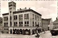 Postcard Moosburg an der Isar im Kreis Freising, Blick auf das Rathaus