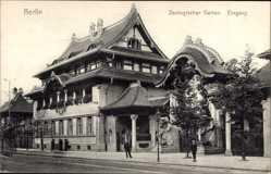 Postcard Berlin Tiergarten, Elefantentor im Zoologischen Garten, Eingang