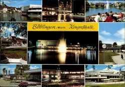 Postcard Böblingen in Baden Württemberg, Kongresshalle, Fontäne