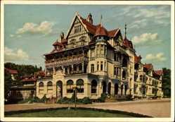 Postcard Bad Sachsa in Niedersachsen, Kurhotel Schützenhaus, August Frind