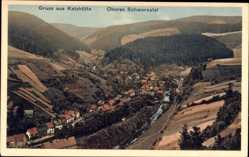 Postcard Katzhütte im Schwarzatal Thüringen, Blick ins obere Schwarzatal