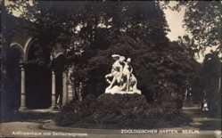 Postcard Berlin Tiergarten, Zoologischer Garten, Antilopenhaus, Zentaurengruppe, NPG