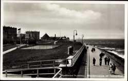 Postcard Norderney in Ostfriesland, Strandpromenade mit Tennisplätzen
