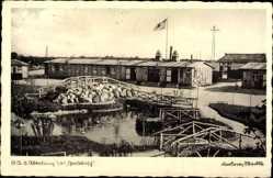 Postcard Carlow in Mecklenburg, Reichsarbeitsdienstabteilung 61
