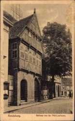 Postcard Rendsburg in Schleswig Holstein, Rathaus von der Mühlenstraße
