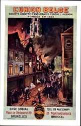Künstler Ak Bruxelles Brüssel, L'Union Belge, Assurances contre l'Incendie