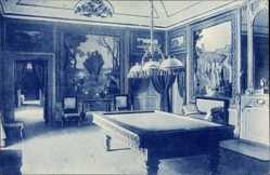 Postcard El Pardo Madrid Stadt Spanien, Palacio Real, Salon de Billard, Aguirre