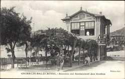Postcard Grimaldi Balzi Rossi Ventimiglia Liguria, Ricordo del Restaurant des Grottes