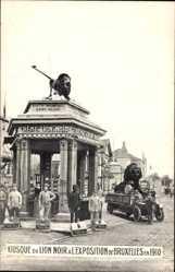 Postcard Bruxelles Brüssel, Expo, Weltausstellung 1910, Kiosque du Lion Noir