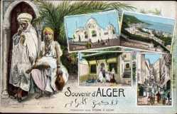 Postcard Alger Algerien, La Médersa, St. Eugène Boulevard, Tombeau Sidi Abderhamam