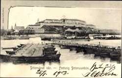 Postcard Novi Sad Újvidék Neusatz Serbien, Petervarad var, Festung Peterwardein
