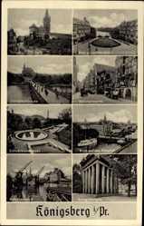 Postcard Kaliningrad Königsberg Ostpreußen, Schloss, Speicherviertel, Kneiphof