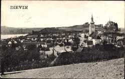 Postcard Poszony Pressburg Bratislava Slowakei, Burg Devín, Umgebung, Kirchturm