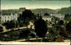 Postcard Viña del Mar Chile, Plaza, Grünanlagen, Platz, Gebäude