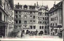 Postcard Luzern Stadt Schweiz, Weinmarkt, Hôtel des Balances
