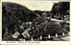 Postcard Bad Kudowa Schlesien, Partie an der Heuscheuerstraße