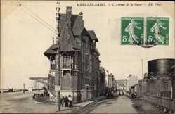 Ak Mers les Bains Somme, L'Avenue de la Gare, Straßenpartie