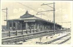 Postcard Ede Wageningen Gelderland Niederlande, Bahnhof, Gleisseite