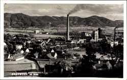 Postcard Gratkorn Steiermark Österreich, Blick auf den Ort, Fabrik, Schornsteine