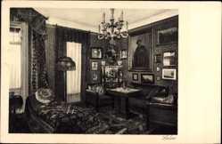 Postcard Wien 2. Leopoldstadt, Hotel Sächsischer Hof, Taborstraße 46a, Salon