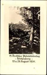 Postcard Liberec Reichenberg Stadt, 19. Deutscher Philatelistentag August 1938