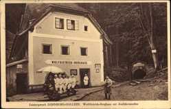 Postcard Dürnberg Hallein Salzburg, Berghaus mit Ausfahrtsstollen, Wolf Dietrich