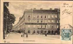 Postcard Graz Steiermark Österreich, Blick in Leonhardstraße, Hotel zur goldenen Birn