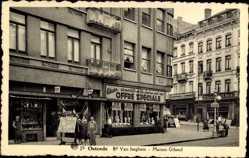 Postcard Ostende Westflandern, Boulevard Van Iseghem, Maison Gilsoul, Magasins